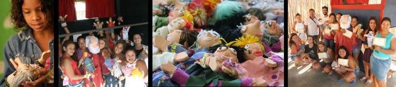 03 Oficina Teatro de Bonecos Indigena _ Aldeia Caieiras Vieiras _ Tupinikin _ fantoches _ bonecos de luva