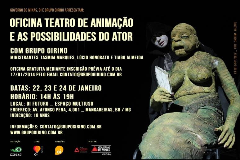 Oficina Teatro de Animação e as Possibilidades do Ator _ com Grupo Girino